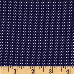 White Pin Dot White Navy