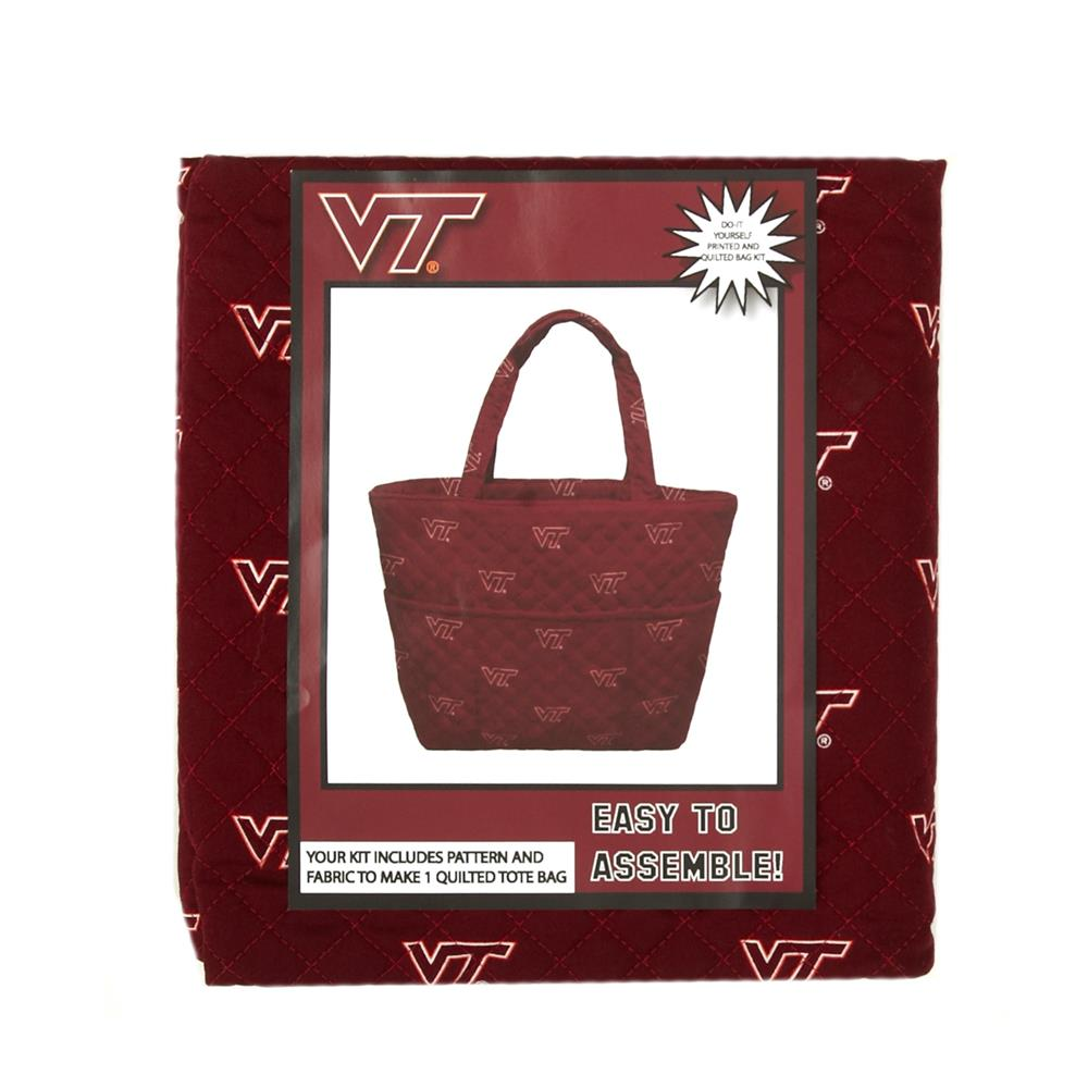 Collegiate Quilted Tote Virginia Tech University