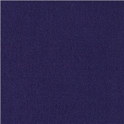 Stretch Wool Blend Serge Purple