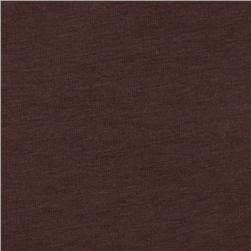 Kaufman Laguna Stretch Jersey Knit Chocolate Fabric