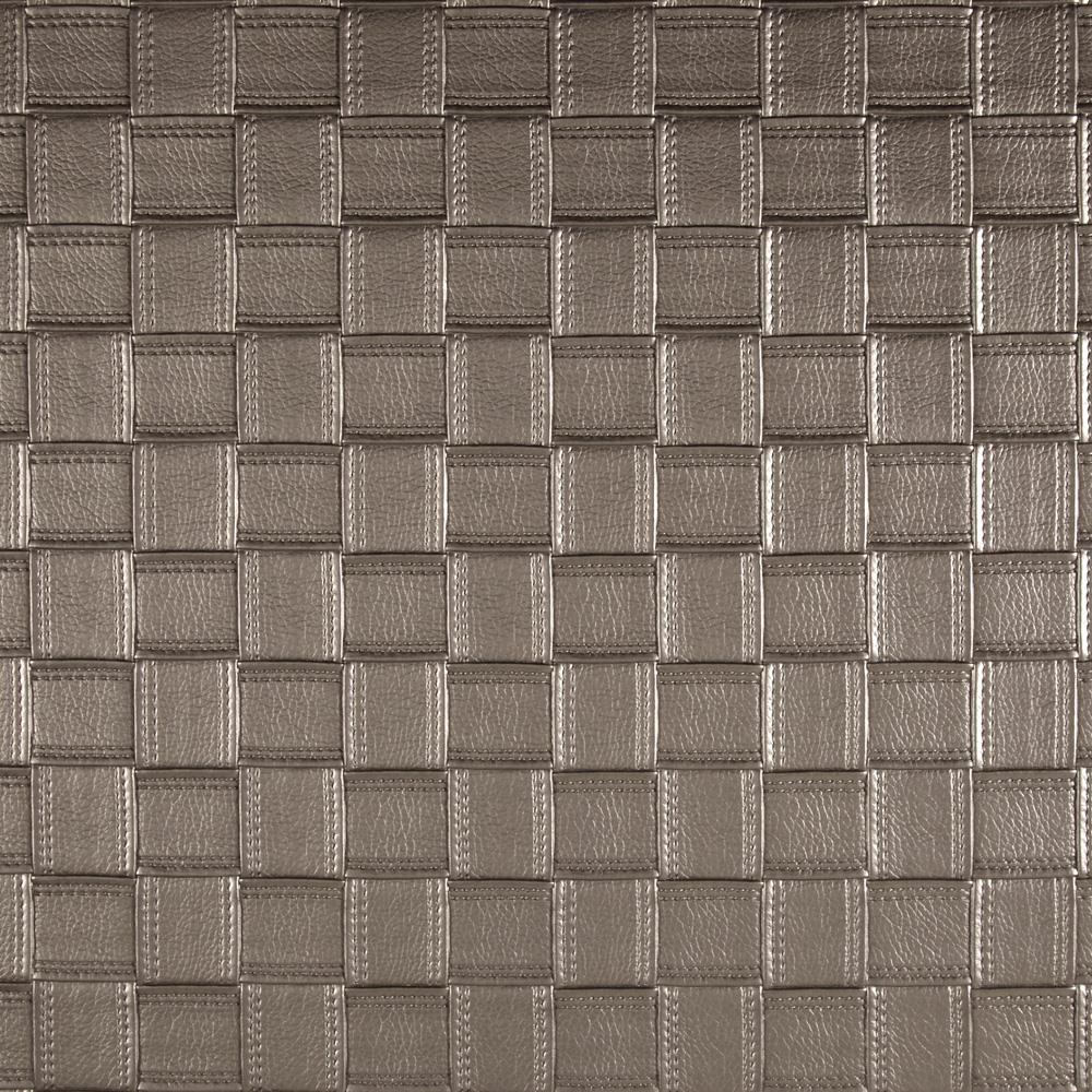 Luxury Faux Leather Large Basketweave Silver