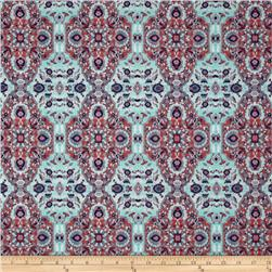 Jersey Knit Faded Medallion Teal