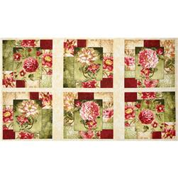 Hope's Promise Floral Panel Green