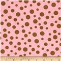 Alpine Flannel Basics Dots Pink/Brown