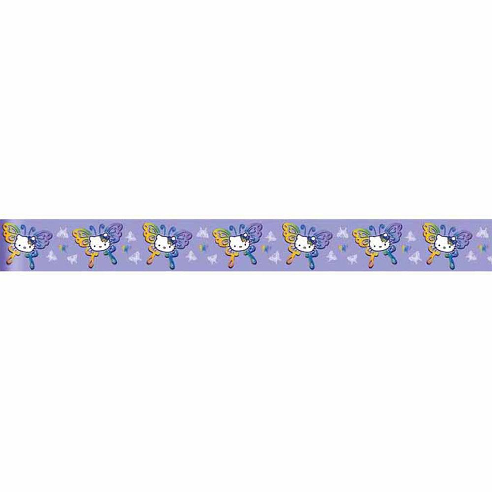 "7/8"" Hello Kitty Delphinium Ribbon Purple"