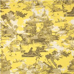 Premier Prints Birmingham Toile Lemon