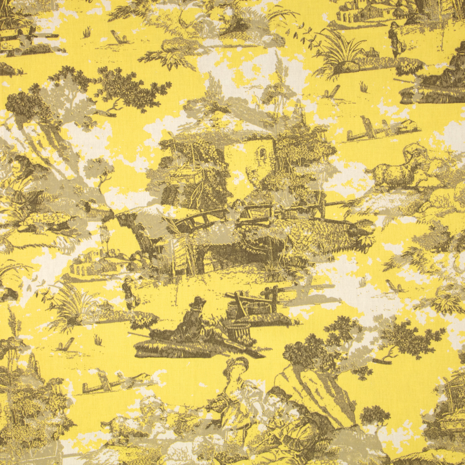 Premier Prints Birmingham Toile Lemon Fabric