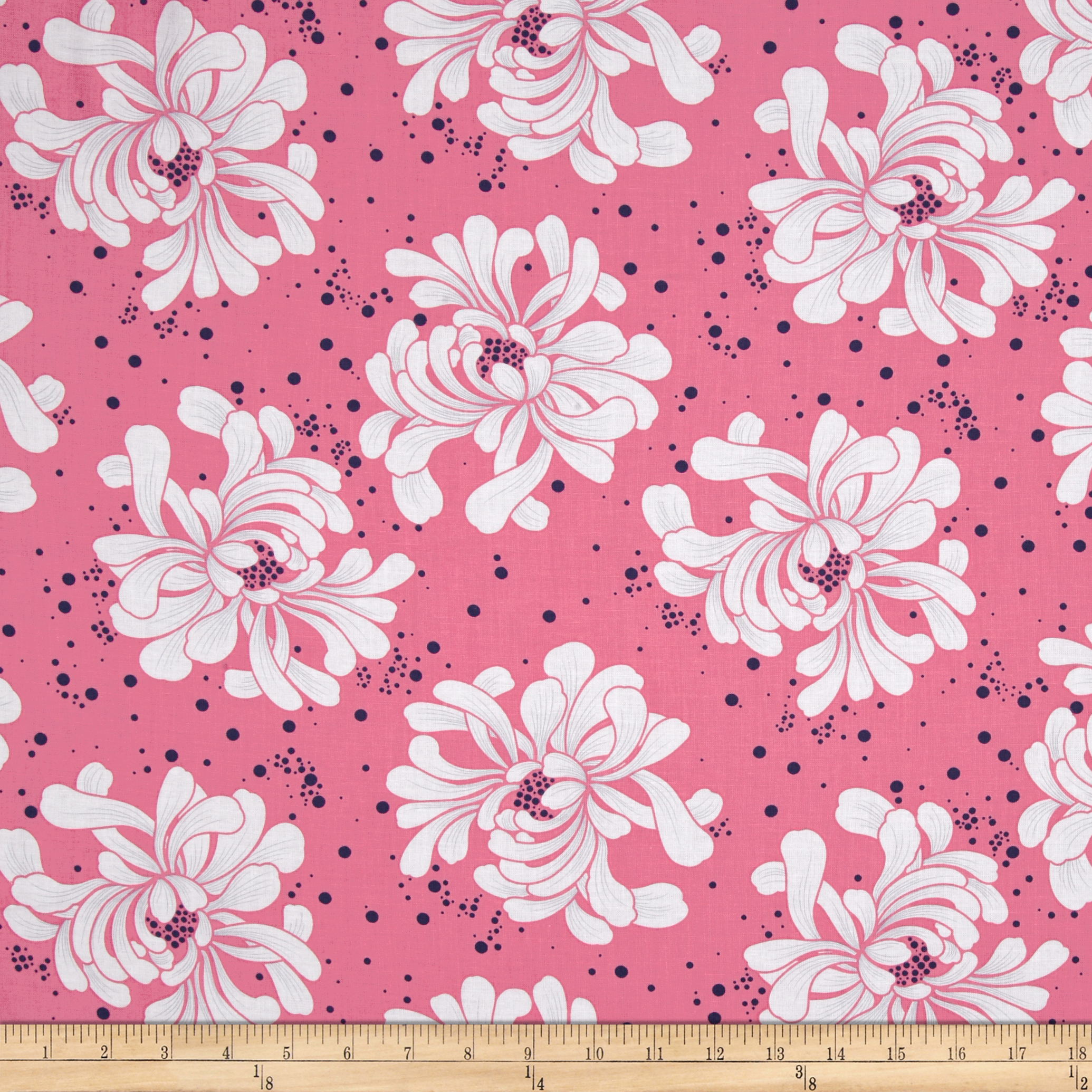 Kanvas Water Lily Water Lily Tossed Pink Fabric by Benartex in USA