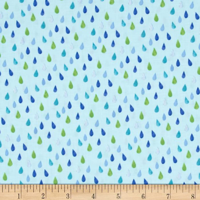 Colors and Count Raindrops Light Blue