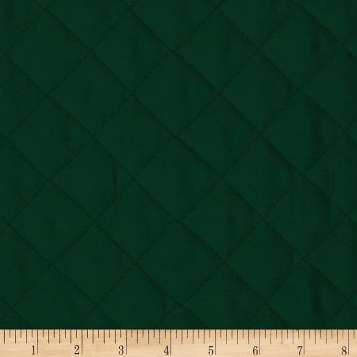 Double Sided Quilted Broadcloth Forest Green Fabric By The Yard