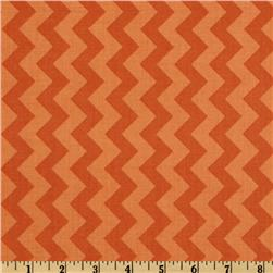 Riley Blake Chevron Small Tonal Orange Fabric