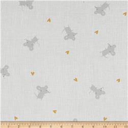 Cloud 9 Organic Tout Petit Gauze Little Mice White