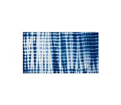 Indian Batik Wind Cave Tie-Dye Thin Stripe Navy/White