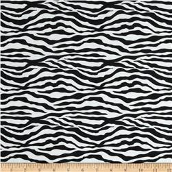 T-Shirt Jersey Knit Zebra Black/White