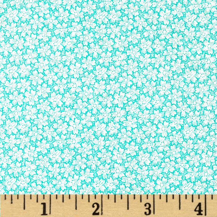 Jeweltone Classics Small Floral Turquoise