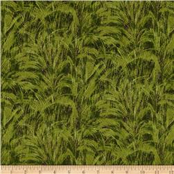 Faux Textures Fronds Green