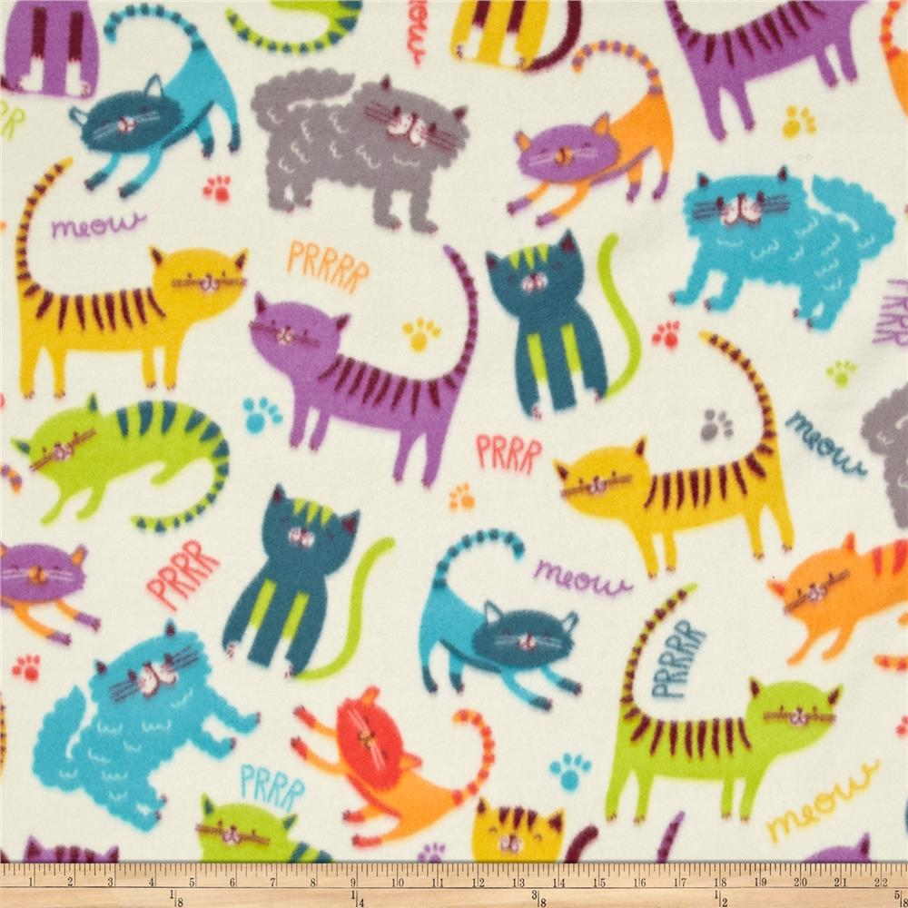 Winter Fleece Meow Club Fabric