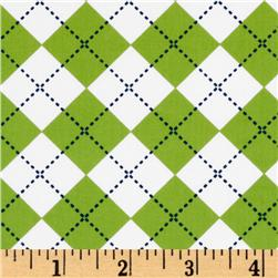 Remix Argyle Lime/White/Blue Fabric