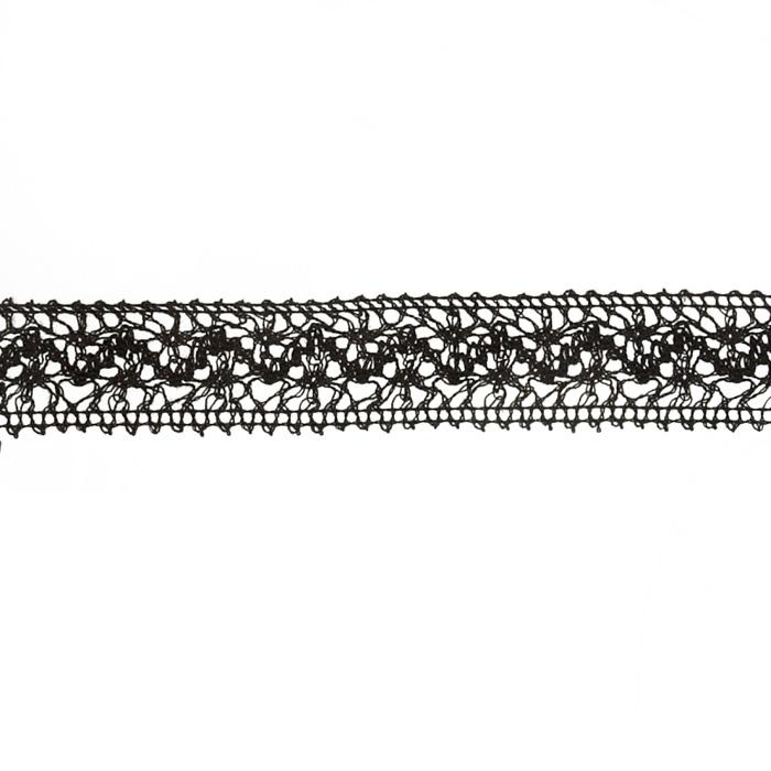 "1 1/2"" Crochet Lace Trim Black"