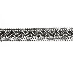 1 1/2'' Crochet Lace Trim Black