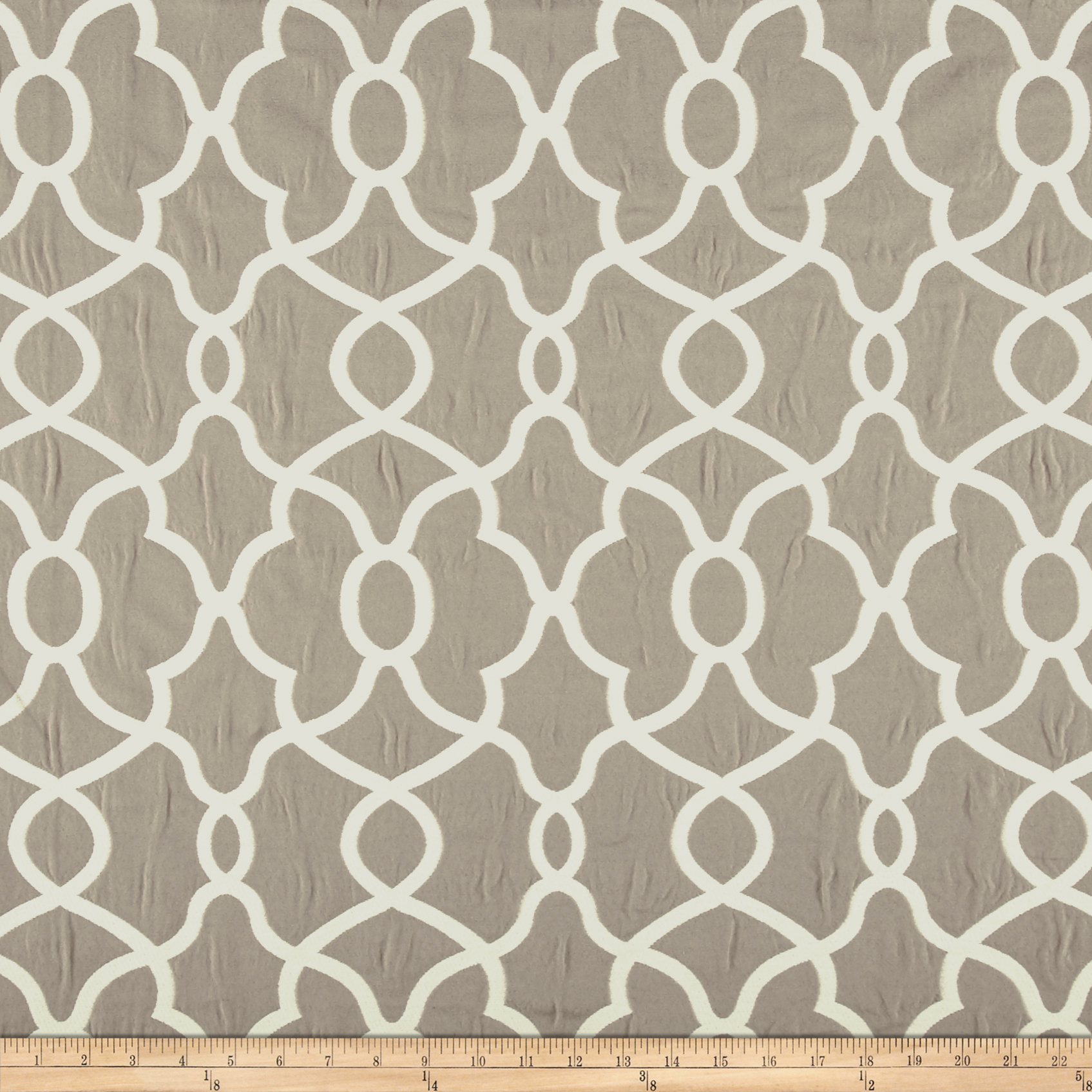Kelly Ripa Home Clearly Cool Jacquard Stone Fabric by Waverly in USA