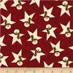 Wrapped In Joy Snowman Star Red