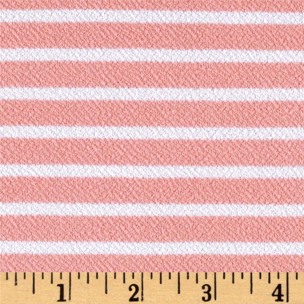 Liverpool Double Knit Stripes Soft Pink