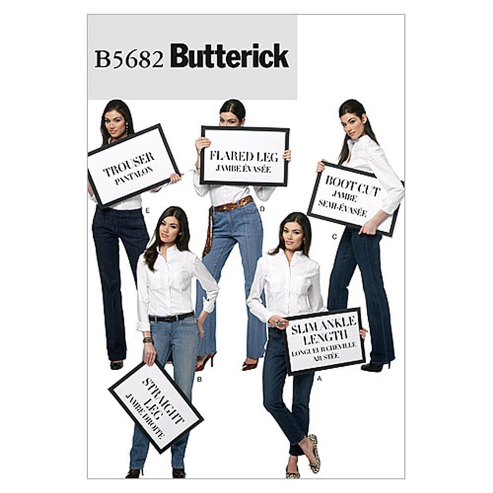 Butterick Misses' Jeans and Trousers Pattern B5682 Size A50