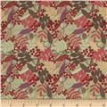 Lewis & Irene Autumn Fields Acorns & Leaves Country Green