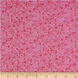 Cuddle Flannel Swirls Pink
