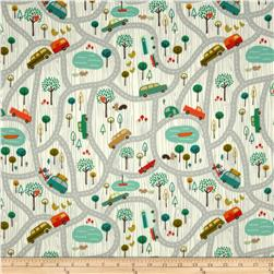 Riley Blake Road Trip Flannel Scenic Grey