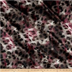 Panama Stretch Satin Spots Maroon/Grey