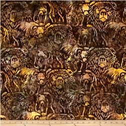 Kaufman Artisan Batiks Wildlife Sanctuary Bears Earth