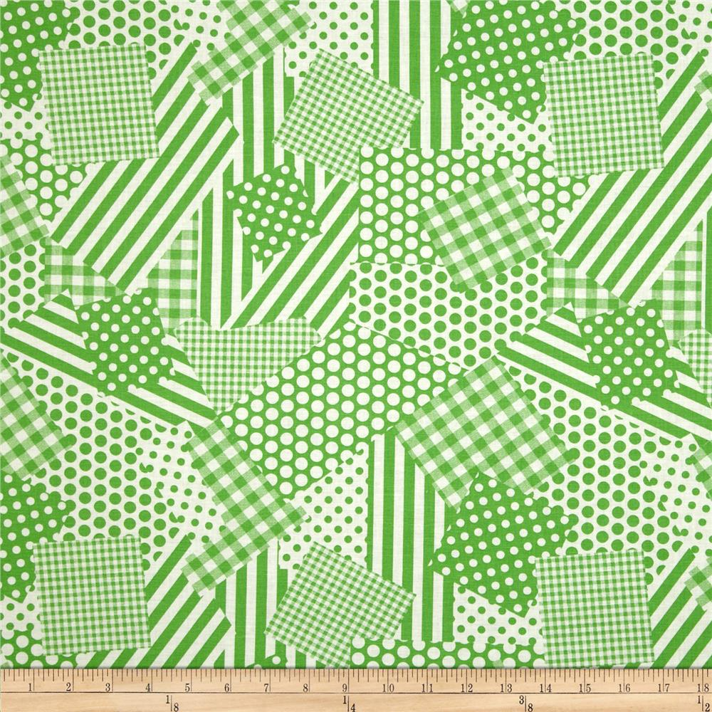 Basic Training Patchwork Lime Green