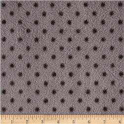 Fleece Prints Allover Dots Grey
