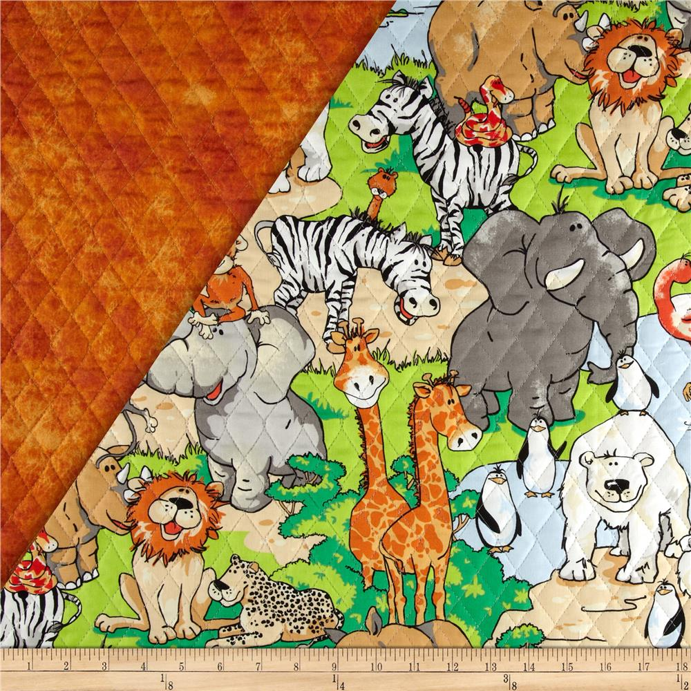Zany Zoo Double Sided Quilted Multi