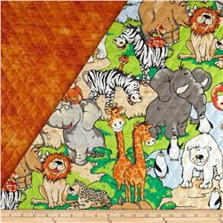 Zany Zoo Double Sided Quilted Multi Fabric