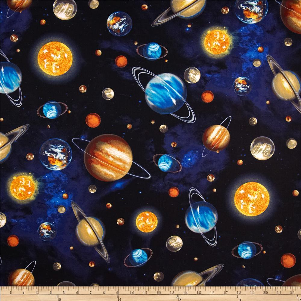 Outer space discount designer fabric for Outer space planets