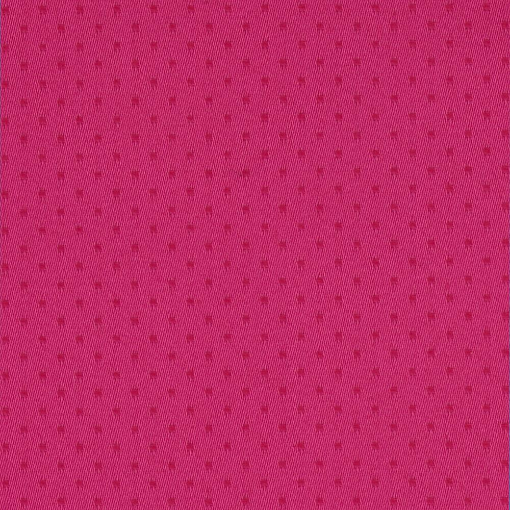 Stretch Sateen Dobby Dot Fuchsia