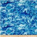 Ocean Oasis Water & Fish Batik Blue