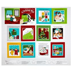 "Sarah Frederking A Christmas Wish 35"" Book Panel Red"