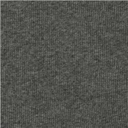 Cotton Rib Knit Dark Heather Grey
