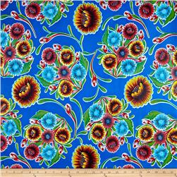 Oil Cloth Bloom Blue