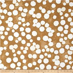 "Kaufman Black & White 108"" Wide Big Dots Earth"