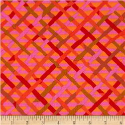 Kaffe Fassett Collective Mad Plaid Red Fabric
