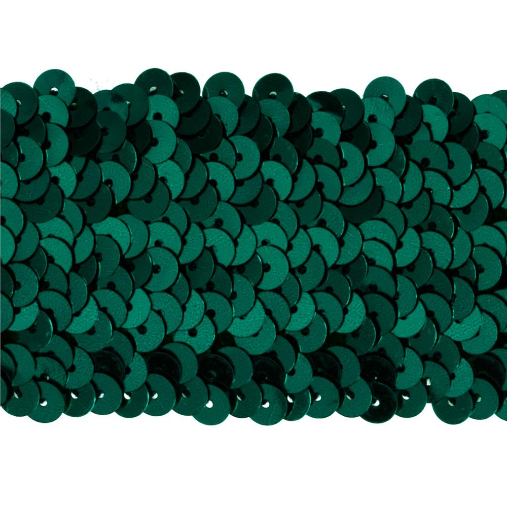 "1 3/4"" Metallic Stretch Sequin Trim Teal"