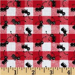Picnic Plaid Tossed Ants Red