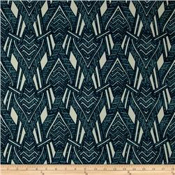 ITY Knit Abstract Arrows Turquoise