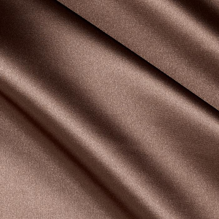 Charmeuse Satin Cedar Brown