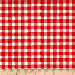 The Hen House Gingham Red